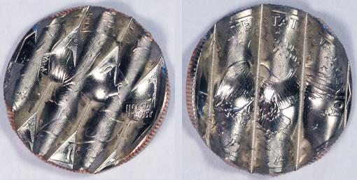 1999 Susan B. Anthony dollar waffle coin