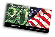 2008 Boston First Day $2 Single Notes