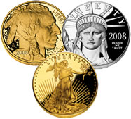 2008 US Mint Collector Bullion Coins