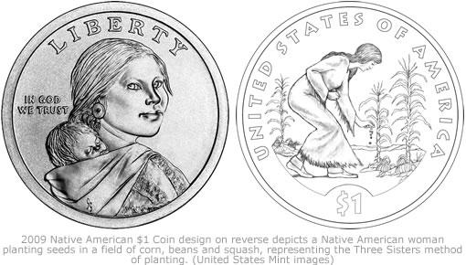 2009 Native American $1 Coin design