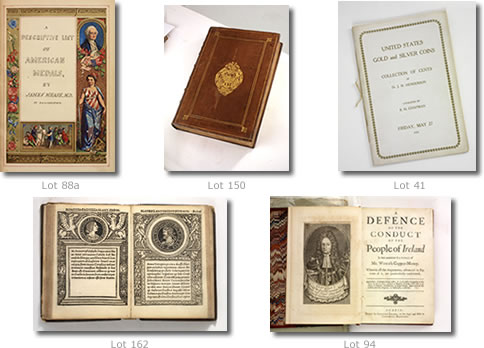 George Frederick Kolbe/Fine Numismatic Books Auction 107 & 108 Highlights