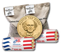 Martin-Van-Buren Presidential Dollar Mint Bags and Rolls