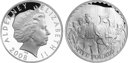 WWI: 90th Anniversary £5 Silver Proof Coin, Recruitment theme by Royal Mint