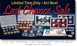 US Mint Last Chance Sale Promotion Image