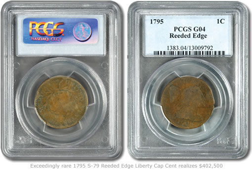 1795 S-79 Reeded Edge Liberty Cap Cent