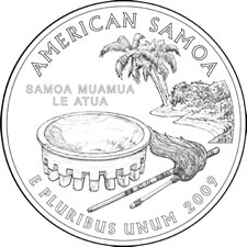 2009 American Samoa Quarter Design
