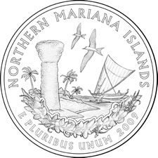 2009 Commonwealth of the Northern Mariana Island Quarter Design