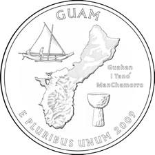 2009 Guam Quarter Design