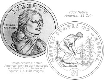 2009 Native American $1 Coin Design