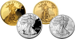 Small American Eagle Coins