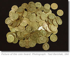 Ancient Gold Coin Hoard Discovered by Israel Archaeologists