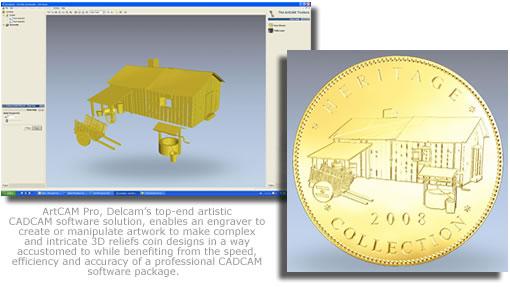 ArtCAM Pro designing coin