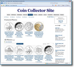 Coin Collector Site image