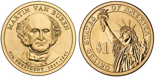 Martin Van Buren Presidential $1 coin