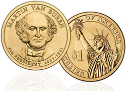 Martin Van Buren gold dollar coin value