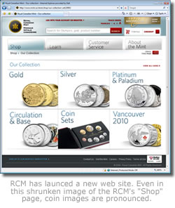 Royal Canadian Mint website image