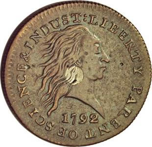 1792 P1C One Cent, Judd-1, Pollock-1, High R.6, VF30 NGC.