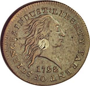 1792 P1C One Cent, Judd-1, Pollock-1, High R.6, VF30 NGC.