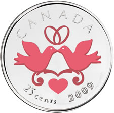 25-CENT CANADIAN COMMEMORATIVE WEDDING COIN