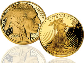 American Buffalo Gold and American Eagle Gold Coin
