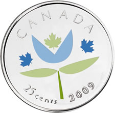 THANK YOU 25-CENT CANADIAN COMMEMORATIVE COIN