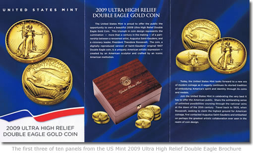 2009 Ultra High Relief Double Eagle Gold Coin brochure