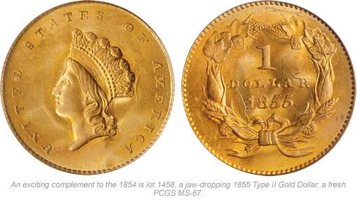 1855 Type II Gold Dollar