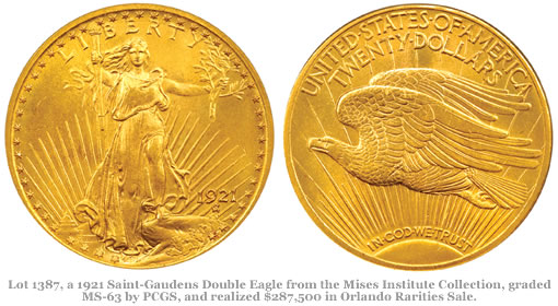 1921 Saint-Gaudens Double Eagle