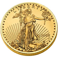 2008-W Uncirculated Gold American Eagle Coin