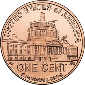2009 Lincoln Penny: Presidency in DC Design