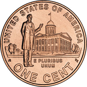 2009 Lincoln Penny: Professional Life in Illinois Design