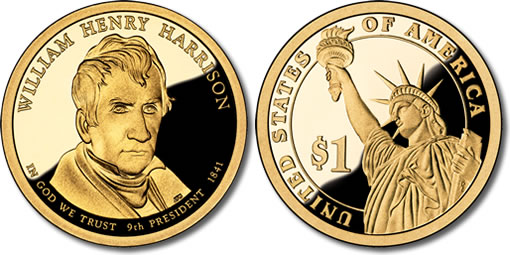 2009 William Henry Harrison Presidential $1 Coin