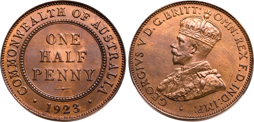 Rare 1923 Australian Half Penny Coin Sells For 500 000