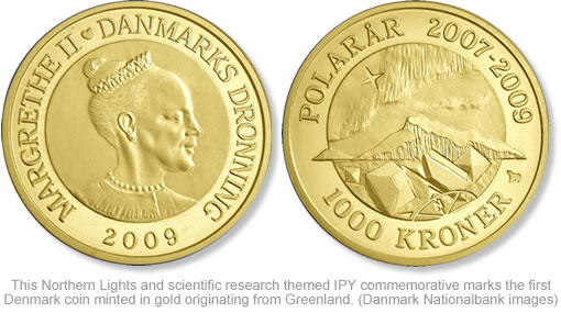 Denmark Northern Lights 1 000 Kroner Gold Polar Coin