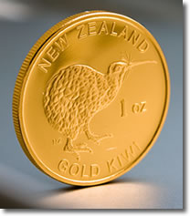 New Zealand Mint 1 OZ Gold Bullion Coin