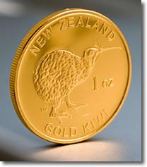 New Zealand Mint 1 OZ Gold Bullion Coin