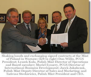 PCGS and Polish Mint Exchanging Contracts