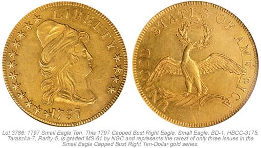 1797 Small Eagle Ten Gold Coin