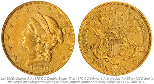 1870-CC Double Eagle Gold Coin