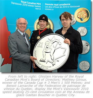 25-Cent Speed Skating Coin Launch