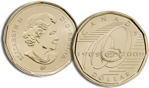 Centennial of the Montreal Canadiens One-Dollar Coin