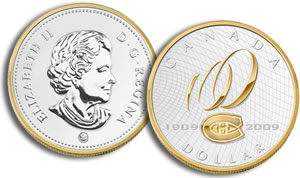 Centennial of the Montreal Canadiens Proof Silver Dollar Coin