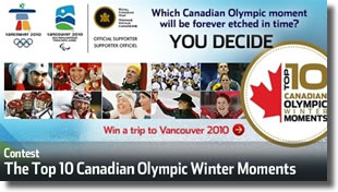 Top 10 Canadian Olympic Winter Moments Contest
