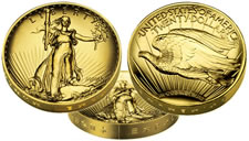 009 Ultra High Relief Double Eagle Gold Coin