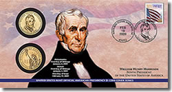 William Henry Harrison $1 Coin Cover