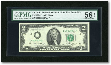 $2 1976 Federal Reserve Note