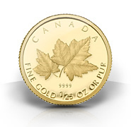2009 1/25-Oz Red Maple Gold Coin