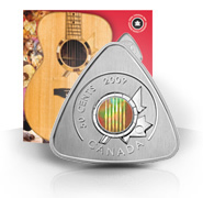 2009 50-Cent Triangle Coin - Six String Nation Guitar