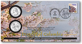 District of Columbia Official First Day Coin Cover