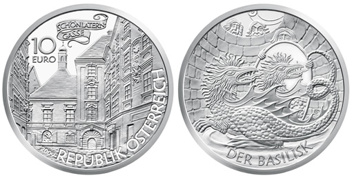 Basilisk Silver Coin from Austrian Mint